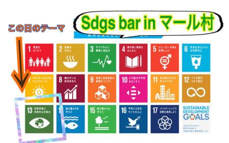 マール村で【Sdgs bar】開催しました